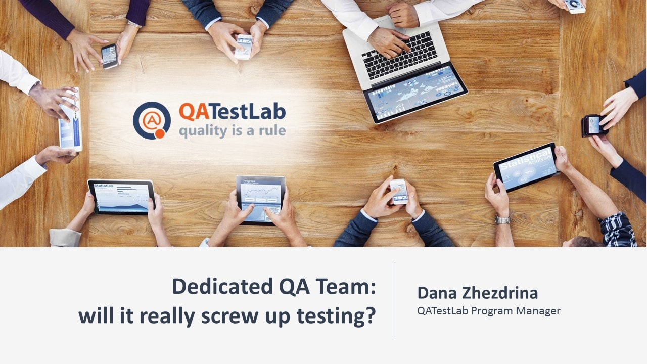 Dedicated QA Team: will it really screw up testing?