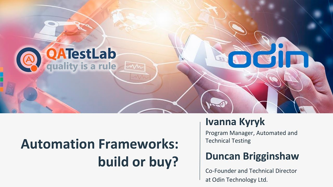 Automation Frameworks: build or buy?